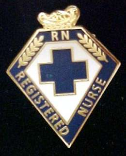 Nurse RN Blue Cross Lamp of Knowledge Graduation Ceremony Pin