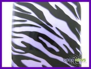 for Verizon LG Cosmos 2 VN251   Purple Zebra Hard Case Phone Cover