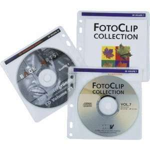 Hama CD/DVD Hüllen PP mit Vlieseinlage zum Abheften transparent VE