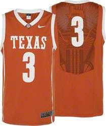 Texas Longhorns Nike Orange #3 Replica Basketball Jersey
