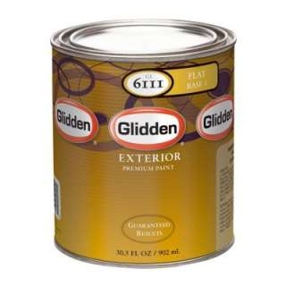 Glidden Premium 32 oz. Flat Latex Light Colors Exterior Base Paint