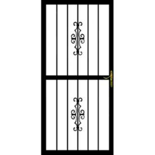in. x 80 in. Steel Black Prehung Security Door 30151 at The Home Depot