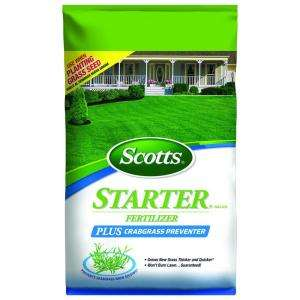 Scotts Starter Brand 22.5 lb. Fertilizer Plus Crabgrass Preventer