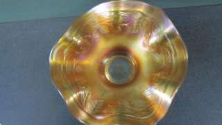 Fenton  Blackberry Spray Dish  Carnival Glass Marigold gjg1