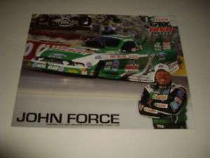 2011 JOHN FORCE CASTROL GTX FUNNY CAR NHRA POSTCARD