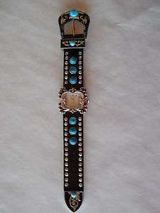 Western Rhinestone Wrist Watch, Cowgirl, Black, Lots of Bling, Quality