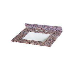 St. Paul Stone Effects 31 in. Vanity Top in Capri with White Bowl