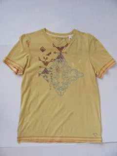 New GUESS Boys Yellow Tee Shirt Top X Large XL 20 NWT