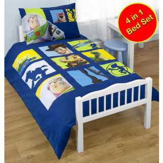 in 1 JUNIOR TODDLER COT BED BEDDING BUNDLE (DUVET + PILLOW + COVERS