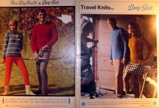 TWO 1960s vintage KNITTING pattern books HIS & HER CASUAL FASHION
