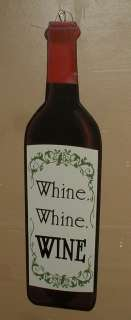 WOOD WALL PLAQUE~BAR SIGN~TUSCAN KITCHEN~VINO~VINES~WHINE~NEW