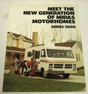 Midas 1977 Series 2000 Motorhome RV Sales Brochure