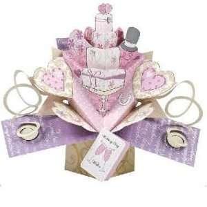 Karte, Hochzeitstag, Hochzeitstorte   Wedding Cake, Wedding Day Wishes