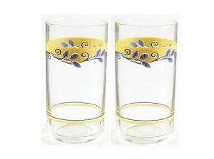 CORELLE CASA FLORAL BELLA VISTA 16 oz TUMBLER GLASSES