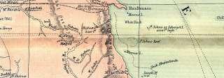 EGYPT Nile Delta & Suez Canal; Cairo, 1905 antique map