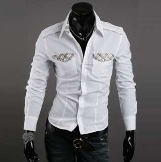 New Mens Luxury Stylish Casual Dress Slim Fit Shirts 3 Colours 3 Size