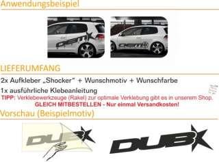 E156 Shocker XXL OEM DUB Aufkleber Sticker Golf VW Audi