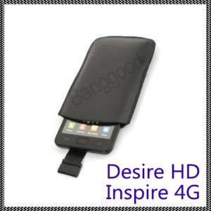Slide Leather Pouch Case for HTC Desire HD Inspire 4G