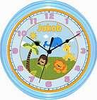 Personalized Precious Planet Animals Nursery Baby Clock