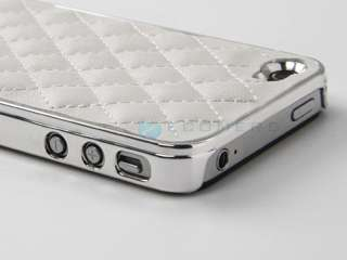Silver Luxury Bling Diamond Rhinestone Aluminium Case Cover For iPhone