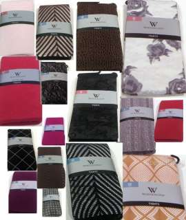 NWT~Worthington Womens TIGHTS Lace Solid or Design Different Colors