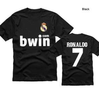 FC Real Madrid #7 RONALDO Soccer Jersey Short Sleeved T Shirts M XXL