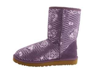 NIB UGG CLASSIC SHORT KIMONO WOMENS BOOTS SHOES HEIRLOOM LILAC 5 6 7 8