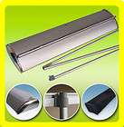 33x79 Retractable Roll Up Banner Stand Deluxe