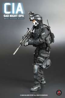 Hot 1/6 SOLDIER STORY CIA SAD NIGHT OPS Toys SWAT USMC MP4 357 Ranger