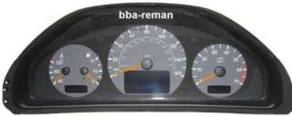 Mercedes C + E Class Instrument Cluster Repair Service