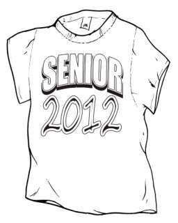 SENIOR SHIRT, HIGH SCHOOL, GRADUATION SHIRT, 2012