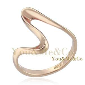 ELEGANT 18k Rose Gold EP Flat Band Ring