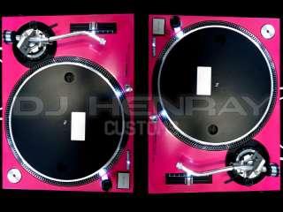 custom Hot Pink Technics SL1200 MK2s with Ultra White leds dj