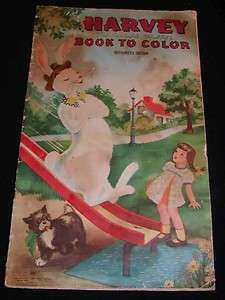 HARVEY THE INVISIBLE RABBIT c1944 Kids Coloring Book