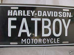 HARLEY DAVIDSON FATBOY CAR TAG LICENSE PLATE
