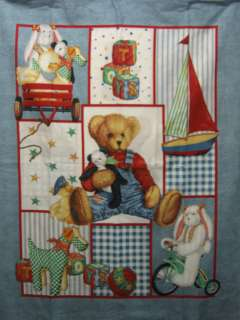 BLUE JEAN TEDDY BEAR AND HIS TOYS PANEL
