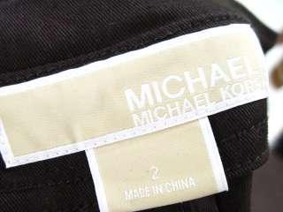 MICHAEL MICHAEL KORS Brown Gold Embellished Blazer Sz 2