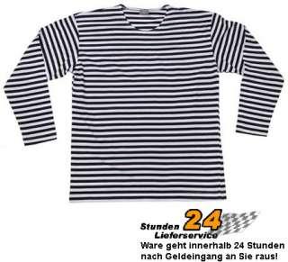 Russisches Marine T Shirt langarm Longsleeve blau weiss S XXL