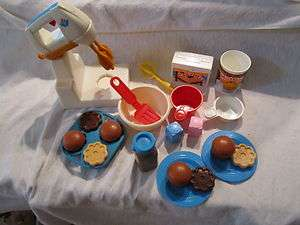 Price Fun with Food Mixing Center Baking set cupcakes cookies cake lot