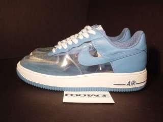 Nike Air Force 1 Premium CLEAR INVISIBLE WOMAN BLUE 9