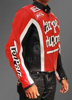 Torque Carpe Diem Biker Cary Ford Motorcycle Heavy Duty Leather Jacket