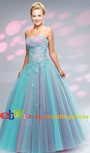 New Stock Fromal Evening Dress Blue wedding Prom Gown Ball Size6 8 10