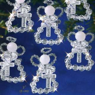 Holy Angels Crystal Beaded Christmas Ornament Kit The Beadery 3058