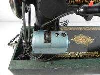 Vintage Singer 66 Red Eye Sewing Machine Electric Treadle