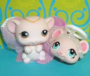 LPS SWEET PINK ANGEL MOUSE/MICE LOT~#429 & #1412~Littlest Pet Shop