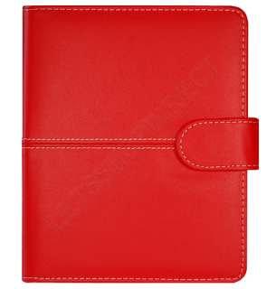 FOR LATEST  KINDLE 4 4TH GENERATION PREMIUM RED LEATHER POUCH