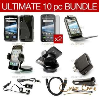 ACCESSORY BUNDLE PACK KIT CASE CHARGER CABLE FOR MOTOROLA ATRIX 4G