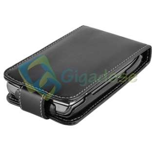 Premium Leather Flip Case+Screen Protector for Blackberry Torch 9800