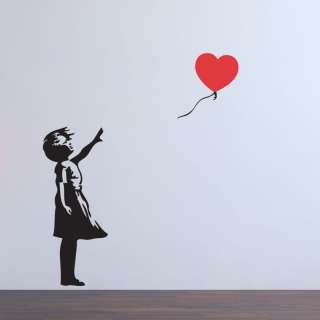 BALLOON GIRL WITH HEART BANKSY ART STICKER DECAL QUOTE