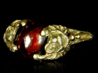 Antique Stunning Exquisite Genuine Victorian Rose Gold 18K Garnet